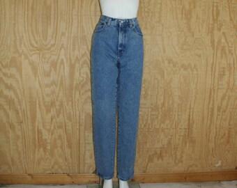 Vintage 1980's GAP Denim Blue Jeans Medium Wash High Rise Waist Straight Leg 30 x 32