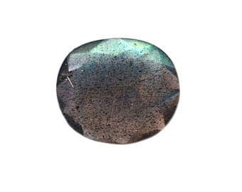 Labradorite Natural Labradorite Rose Cut Polki Both Side Faceted 2.45 cts 10.5x12 mm For Designer Jewelry 3931