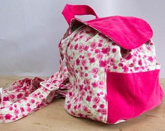 Pink Floral Rucksack