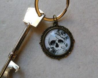 Skull bottle opener key chain