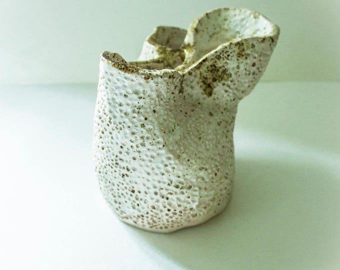 A white vase resembles corals, Whate Modern Abstract Vase, Ceramic vase, Flower vase, Home decor, Office decor, Pottery, Fine art ceramic