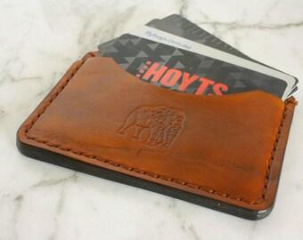 Genuine Leather Card Holder, Leather Card Case, Minimalist Wallet, Minimalist Credit Card Wallet, Slim Wallet, Leather Cardholder