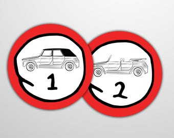 Vw Thing Stickers - Thing 1 and Thing 2