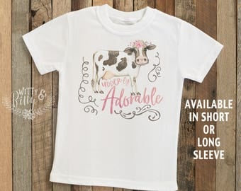 Udder-ly Adorable Cow Kids Shirt, Country Kids Shirt, Cute Cow Kids Shirt, Rustic Kids Shirt, Boho Kids Tee, Funny Kids Shirt - T218U