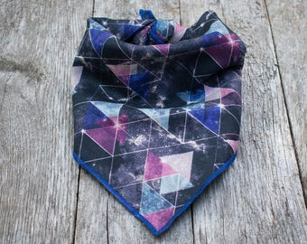 Cosmic Triangles Dog Bandana