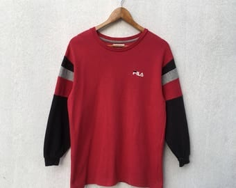Rare! FILA Product spellout Sweatshirts