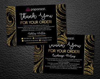 Paparazzi Thank You Cards | Free Personalized | Paparazzi Consultant Thank You Cards | 6x4