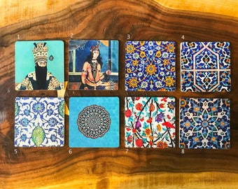 Persian Tile Design Coasters