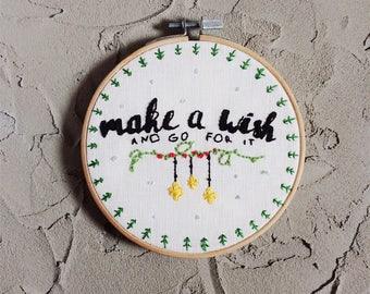 Make a wish Christmas Embroidery gift