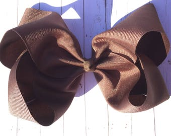 Brown Large JoJo Style Hair Bow