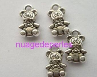 4 charms bear Tibetan Silver Pendant
