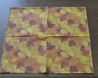 fall leaves paper napkin