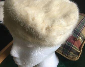 Soft Beautiful Mink Fur Beret
