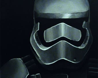 Painting 7 Star Wars STORMTROOPER 2016 by VALkYE 40x40cm