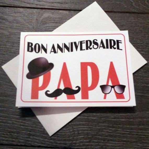 Carte bon anniversaire papa moustache - Dessin d anniversaire pour papa ...