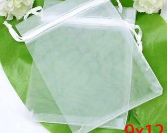 Set of 10 organza bags