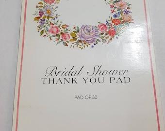 Vintage Bridal Shower Thank you Pad