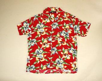 Vintage Mens Hawaiian Shirt by Roundy Bay.  Sz: M