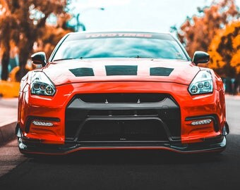 Nissan GTR Red Sports Car Art Print Wall Decor Image Detail Colors    Unframed Poster