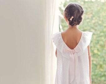 Girls Nightgowns . Girls Pajamas . Girls white and pink Nightgowns . Girls Sleepwear . Girls Pajama Party . Girls Cotton Nightgowns