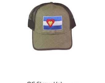 Love Colorado straw trucker hat