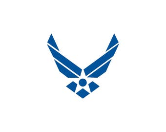 US Air Force SVG and Studio 3 Cut File Stencil Decal Cut Files Military Logo Silhouette Studio Cricut Decals Cuts Logos United States