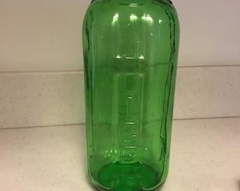 Vintage green glass juice/water jar