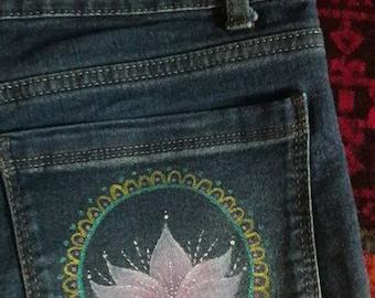 Handpainted Skinny Jeans