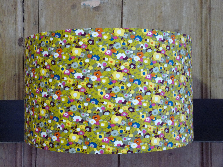 luminaire abat jour tissu japonais fleuri pour suspension ou. Black Bedroom Furniture Sets. Home Design Ideas