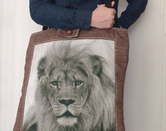 Tote Bag XXL Lion head