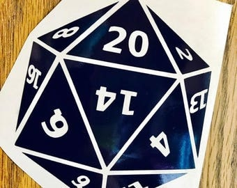 Dungeons and Dragons d20 vinyl decal