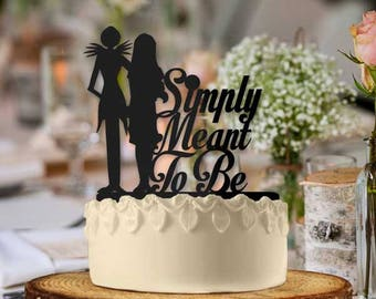 Jack and Sally Simply Meant to Be Wedding Cake Topper