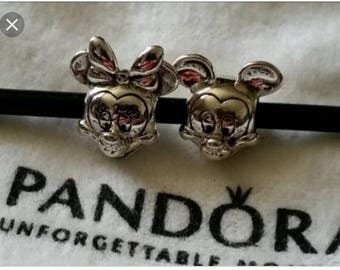 Pandora charms authentic  minnie mouse mickey mouse disney kiss believe in magic silver charm jewellery for all Pandora bracelets necklaces