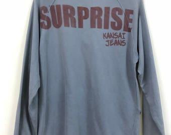 Vintage Kansai Jeans Design Long Sleeve Shirts