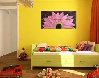 Sunflower sign, pallet sunflower, reclaimed wood flower, home decor sunflower, shabby chic, farmhouse decor, sunflower art