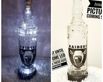 Glass Bottles with LED Lights