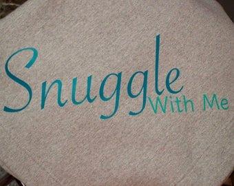 Snuggle With me, Stadium Blanket, Sweatshirt blanket