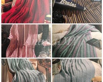 PDF 12 Crochet Mile-A-Minutes Afghans