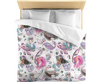 Mermaid Bedding, Duvet Cover, Mermaid, Duvet, Mermaid Duvet, Mermaid Duvet Cover, Bedding, Mermaid Comforter, Mermaid Decor, Mermaid Blanket