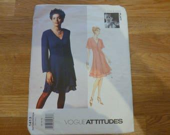 Vogue Pattern 1413 - Vogue Attitudes -  Tom & Linda Platt