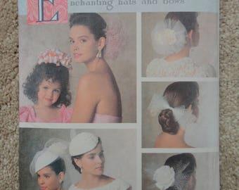 1989 Butterick 3573 ladies hats pattern
