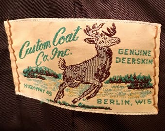 VINTAGE deerskin men's coat