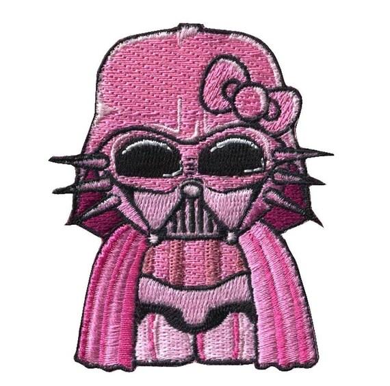 Tactical hook hello kitty darth vader star wars morale gear - Dark vador hello kitty ...