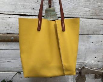 Yellow hobo bag