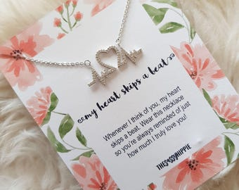 My Heart Skips A Beat Charm Necklace