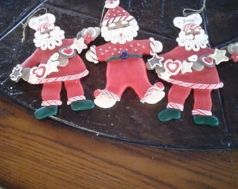 Vintage Santa Christmas ornaments decorations