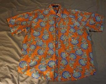 Vintage Style Alan Flusser Brand Shirt