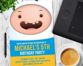 Adventure Time Invitation, Adventure Time Birthday, Adventure Time Party, Finn Printable Party Invite