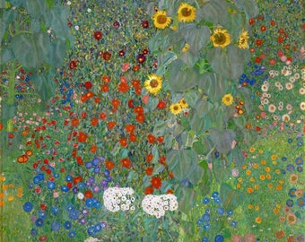 Gustav Klimt - Sunflower, fine art reproduction,art deco,fine art print