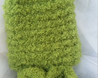 Soft, Plush Green Baby Bootys